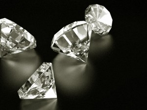 diamonds on table