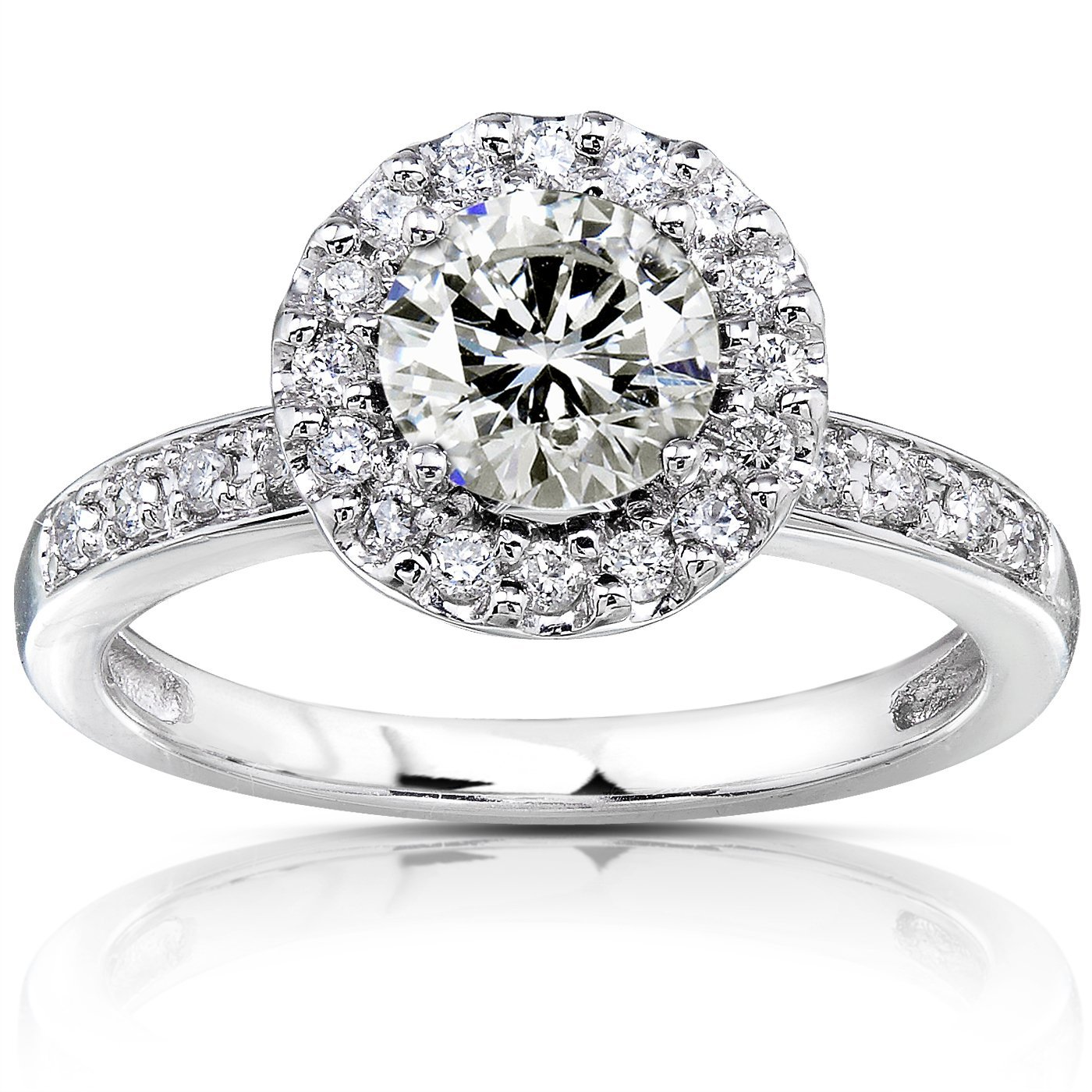 engagement ring round view white rings cut classic bali